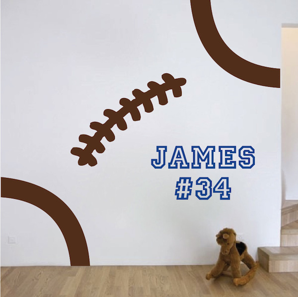 Attractive Football Stitches Wall Decal. Zoom
