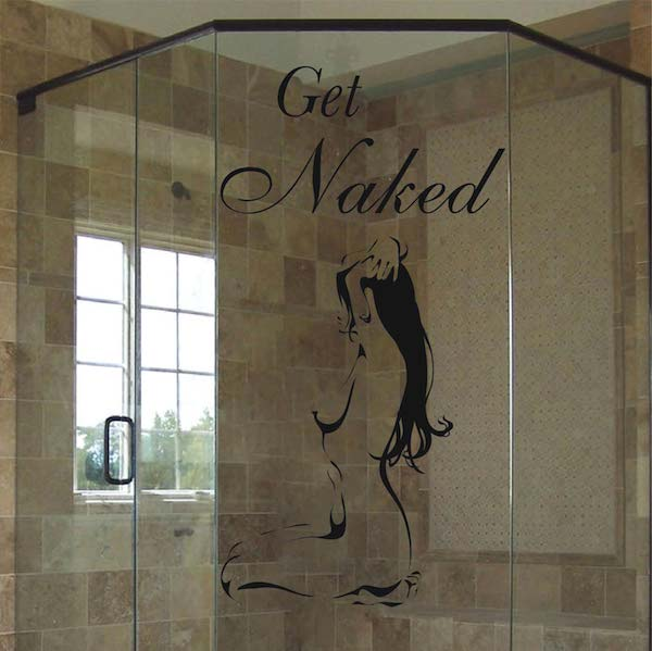 Get Naked Bathroom Wall Decals, Bathtub Stickers, Wall Appliqué ...