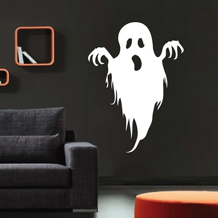 spooky ghost wall art mural trendy wall designs. Black Bedroom Furniture Sets. Home Design Ideas