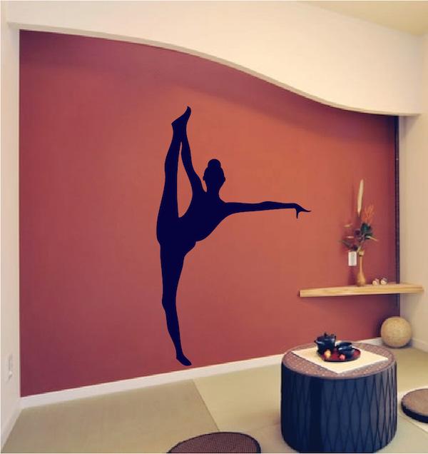 Gymnastics Girl Wall Mural Trendy Wall Designs