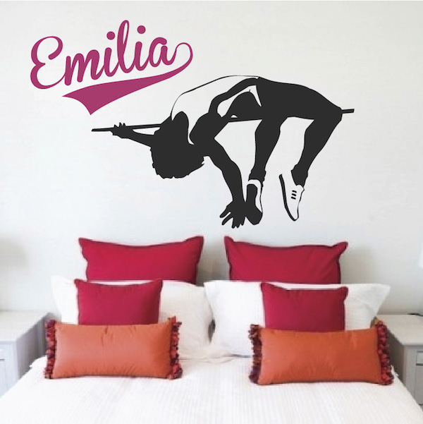 High Jump Wall Decal. Zoom
