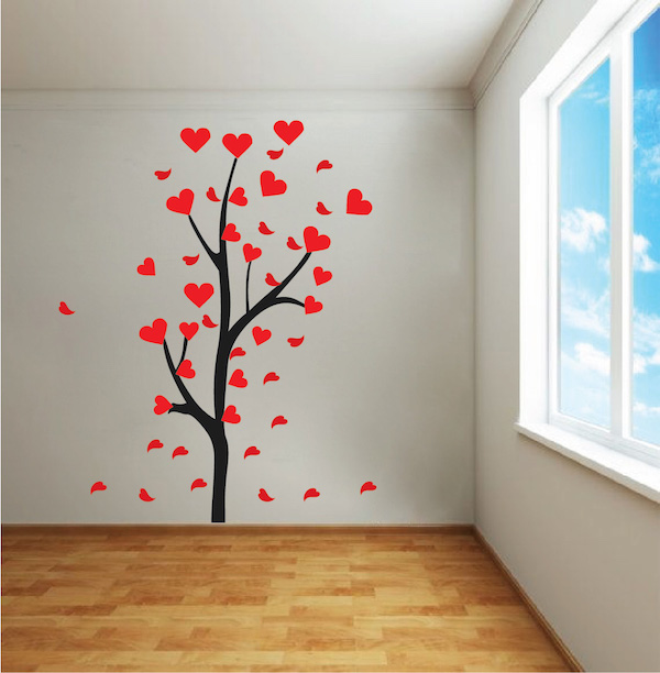 Heart Tree Branch Decal - Trendy Wall Designs