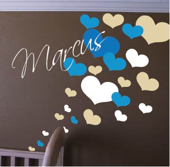 Nursery Room Heart Wall Decals | Trendy Wall Designs