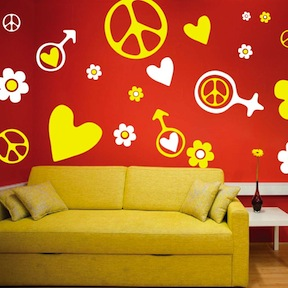 & Hippie Kit Wall Decals u0026 Teenager Wall Decals From Trendy Wall Designs