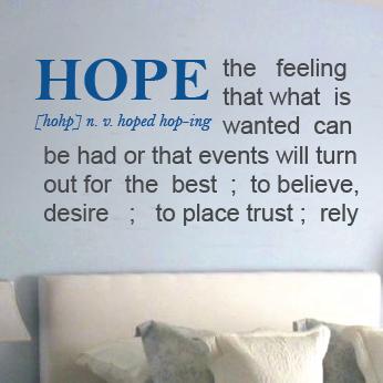 A description of the hopeful encounter
