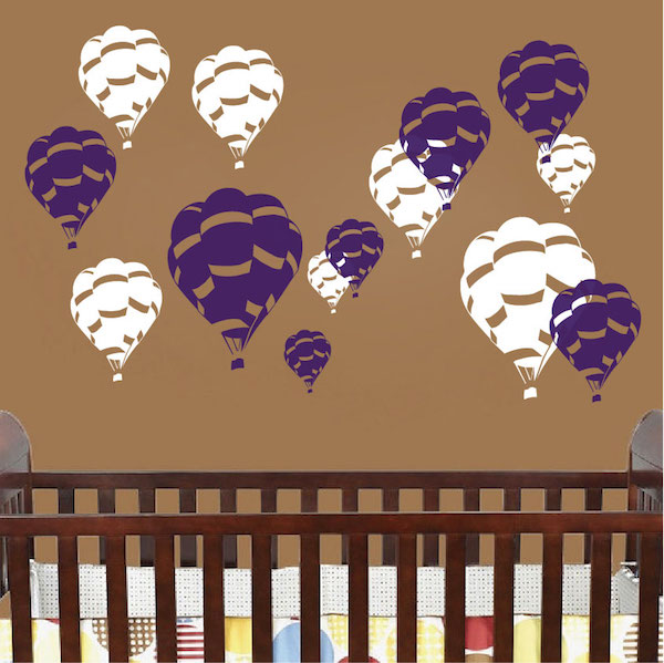 Hot Air Balloon Wall Decals. Zoom
