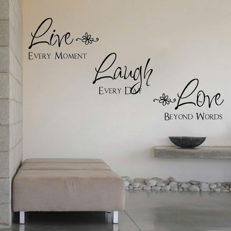 Love Wall Quotes Entrancing Live Laugh Love Wall Quote Saying