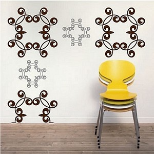 wrought iron wall decals zoom - Wrought Iron Wall Designs