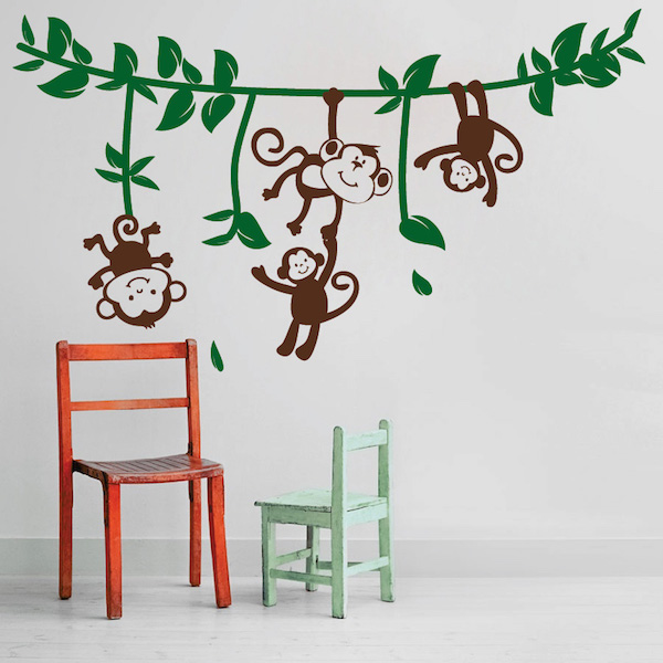 Silly Monkeys Wall Decals. Zoom