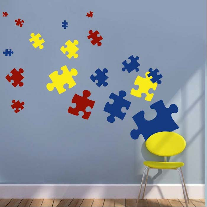Puzzle Piece Wall Decals. Zoom