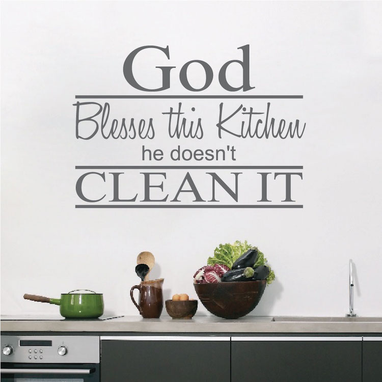 Kitchen Decor Quotes: Kitchen Wall Saying Decal