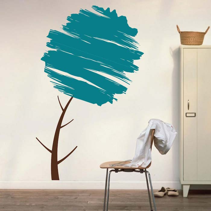Trendy Wall Art water brush tree wall art design | trendy wall designs