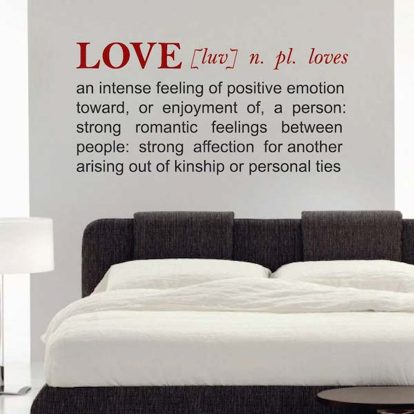 LOVE: Definition Wall Decal Letters. Zoom