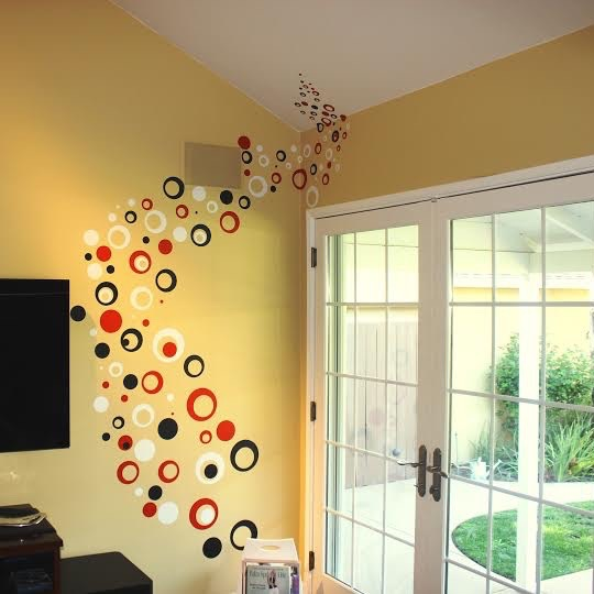 Contemporary Rings Dots Wall Decals Trendy Wall Designs