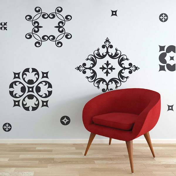 Ornamental Wall Decals - Trendy Wall Designs