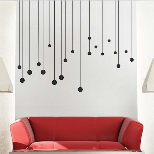Round drops wall decals vinyl wall decals from trendy for Designer wall mural