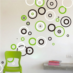 Trendy Rings Vinyl Wall Decals. Zoom. Use 3 Different Sheets/colors To  Create This Look