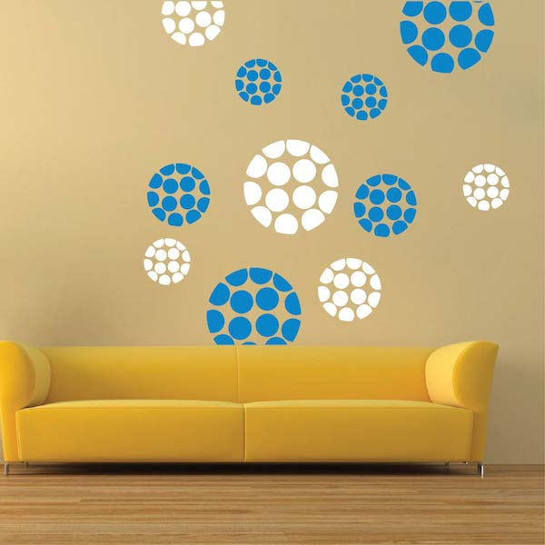 Modern Polka Dot Dots Wall Designs | Trendy Wall Designs