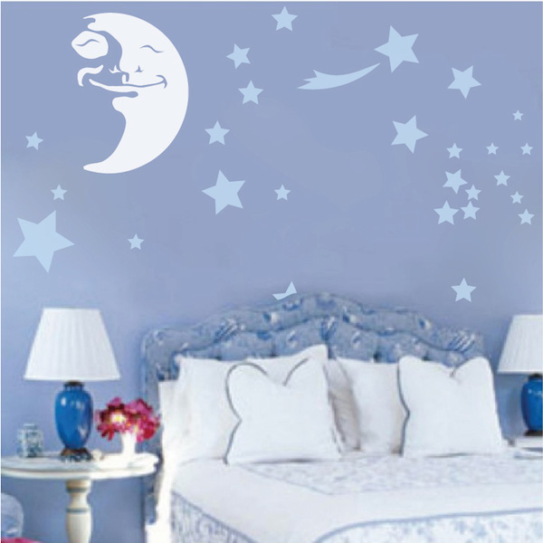 Happy Moon Wall Decal