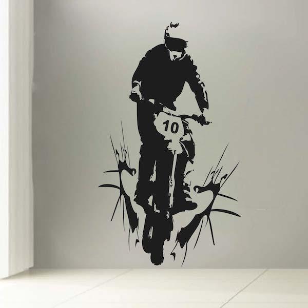 Customizable Dirt Bike Decal. Zoom Part 86