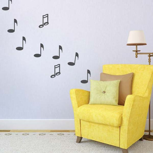 Music Note Wall Decals - Trendy Wall Designs