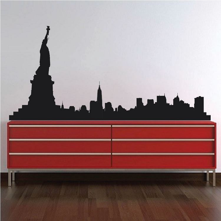 New York Skyline Wall Decal Skylines Wallpaper Decal Stickers