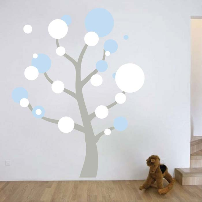 Polka Dot Tree Wall Art Design. Zoom