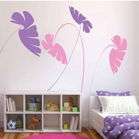 Kids Leafy Stems Wall Decals. Zoom