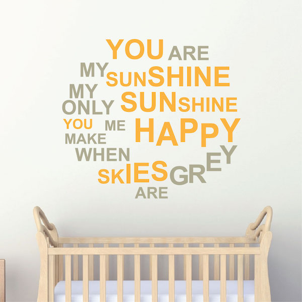 You Are My Sunshine Wall Quote. Zoom