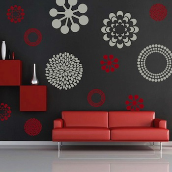 Pretty Wall Decals Floral Decals From Trendy Wall designs