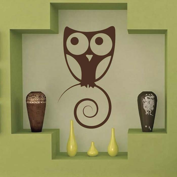 Cute Owl Wall Art Design. Zoom