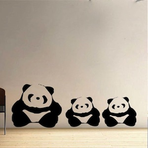 Adorable Panda Wall Decals From Trendy Wal Designs