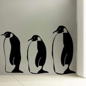 Penguin Wall Decals. Zoom