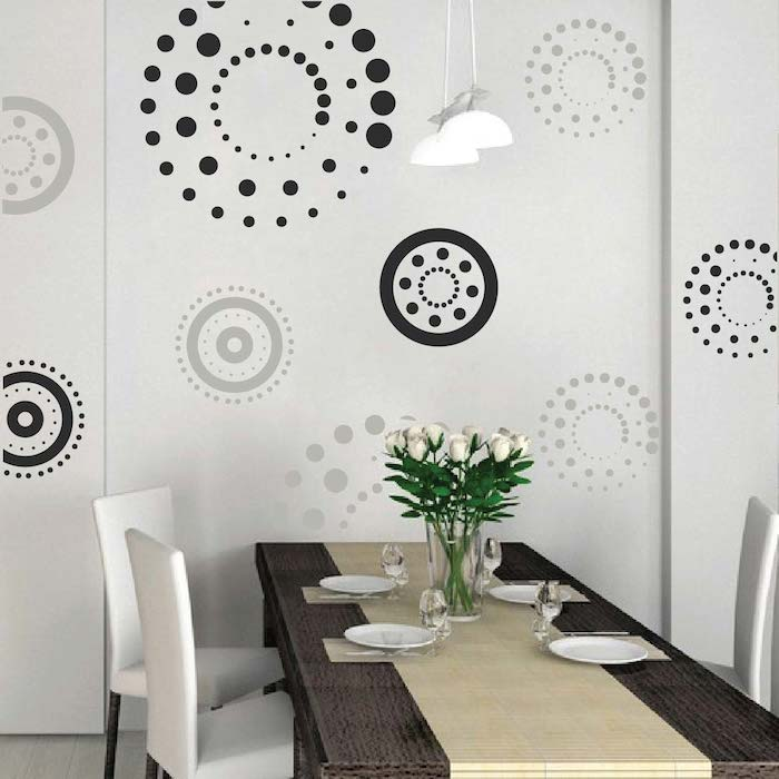 Circling Dots Wall Decals - Trendy Wall Designs. Trendy Wall Designs - shower wall tile designs