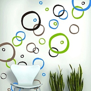 Retro Rings Wall Decals Trendy Wall Designs