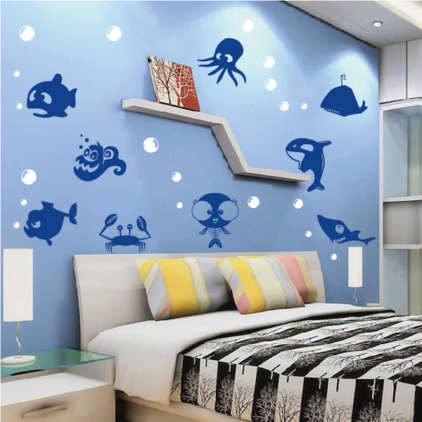 Sea Creatures Wall Decal Stickers - Trendy Wall Designs