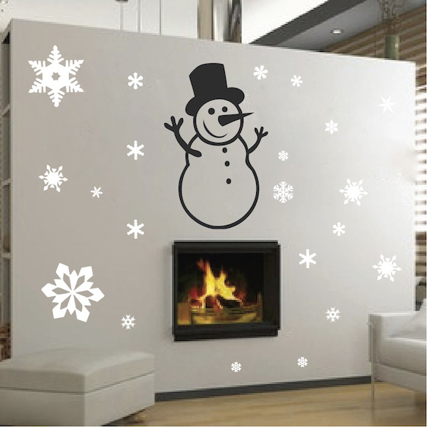 Have a blast ringing in the Holidays with the Snowman Wall Decal from Trendy Wall Designs! What a beautiful decal to arrange to your liking