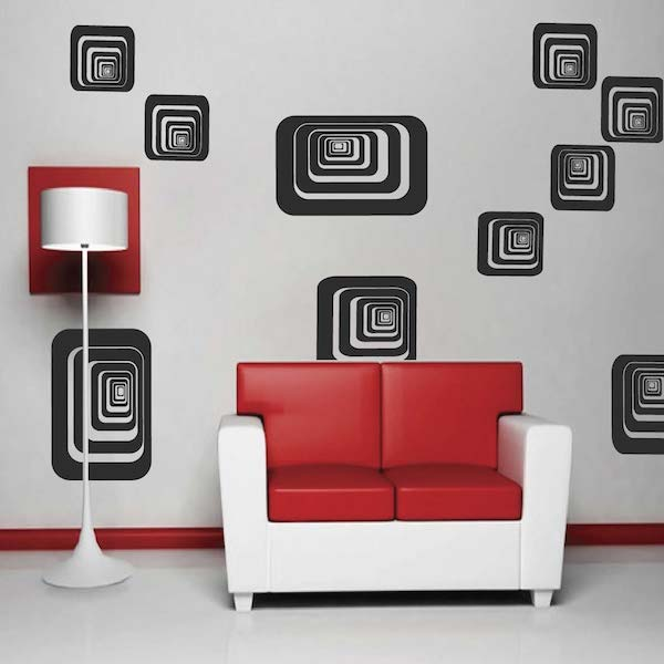 Depth shapes wall decals zoom
