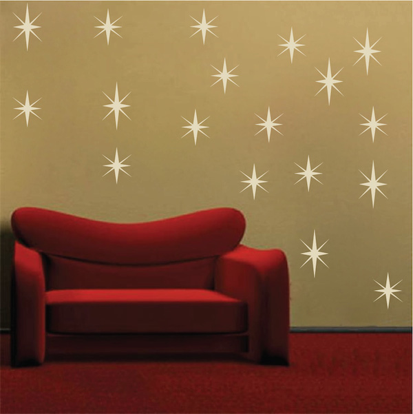 Exceptional Sparkly Star Wall Decals. Zoom