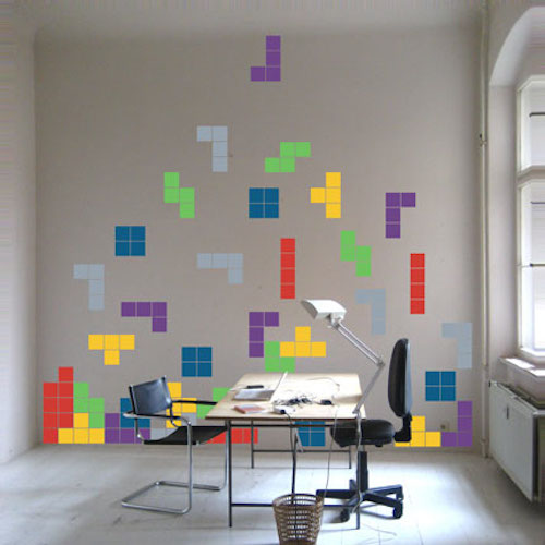 Trendy Wall Art tetris wall art stickers | trendy wall designs
