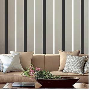 Use 2 different colors and width of stripes to create this look.