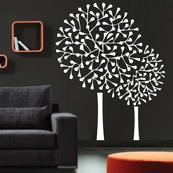 Round Tree Wall Decals. Zoom