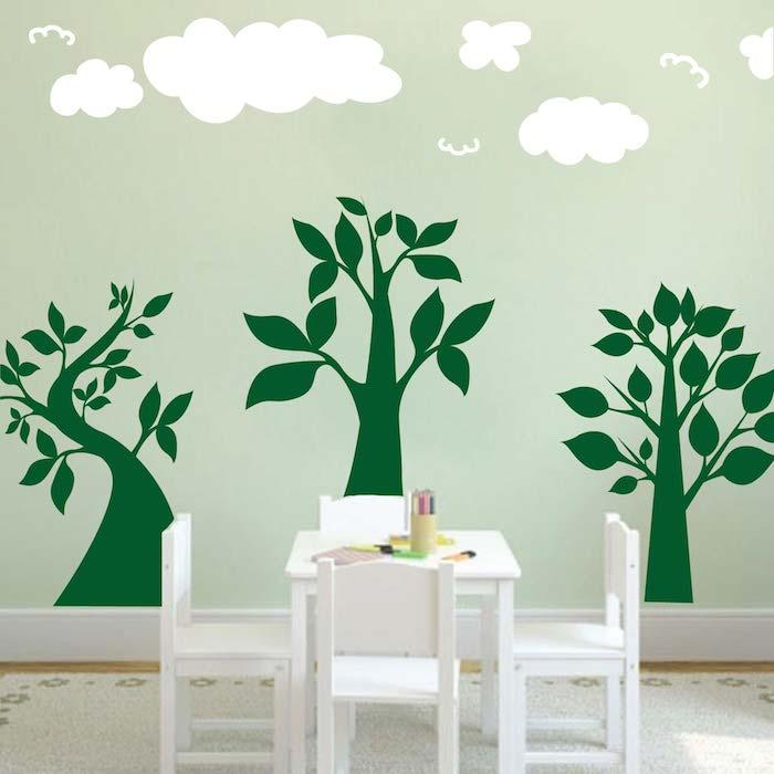 Three Lil\' Trees Wall Art Design | Trendy Wall Designs