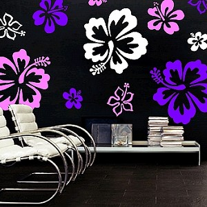 Hibiscus Flowers Wall Decals. Zoom. Use 3 different sheets/colors to create this look  sc 1 st  Trendy Wall Designs & Hibiscus Flowers Wall Decal - Trendy Wall Designs