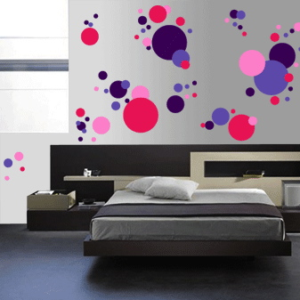 Trendy Wall Art cool polka dots wall art design | trendy wall designs