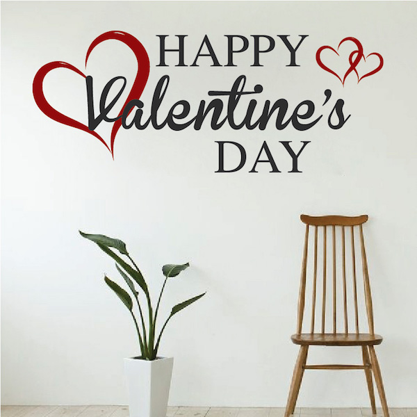 Happy Valentine'S Wall Decal - Trendy Wall Designs