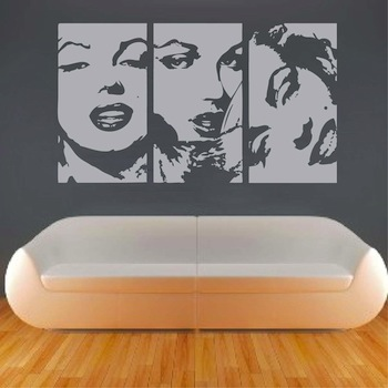 Wall Decal Art marilyn negative panel wall decal art design - trendy wall designs