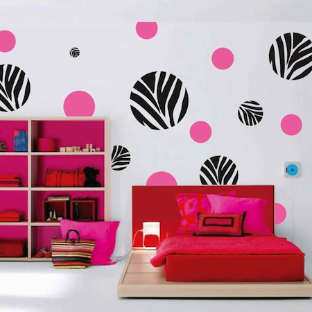 Trendy Wall Art zebra dots wall art design | trendy wall designs