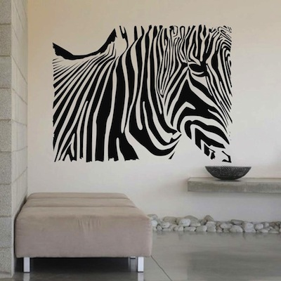 zebra wall decals 2017 - Grasscloth Wallpaper