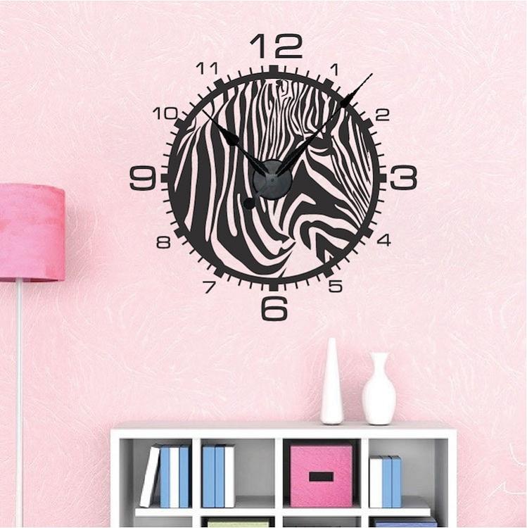 Zebra Print Clock. Zoom